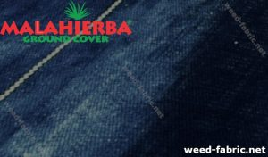 Weed cloth covering plants.